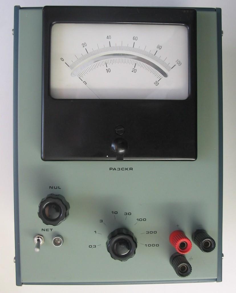 Eenvoudige FET voltmeter