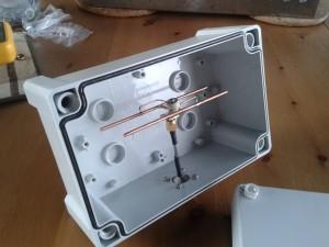 HB9CV-in-a-box, een kleine richtantenne voor de 23cm band, handig voor verbindingen met bijvoorbeeld een naburige ATV-repeater.