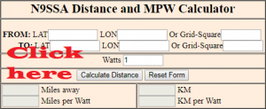 Miles per Watt Calculator on QRZ.com.hr