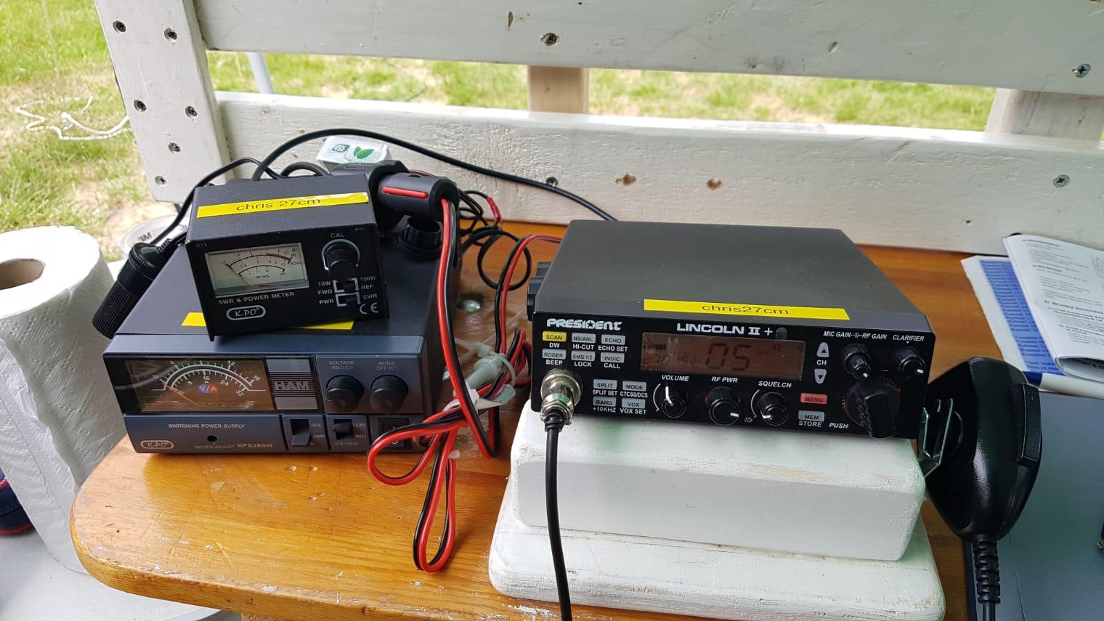 Antenne experiment op de 11 meter band door Chris NL13924